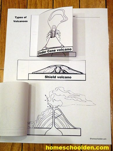 Types of Volcano Interactive Notebook Activity | Science ...