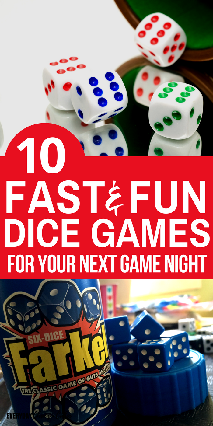 10 Fun Dice Games for Kids and Families Online games for