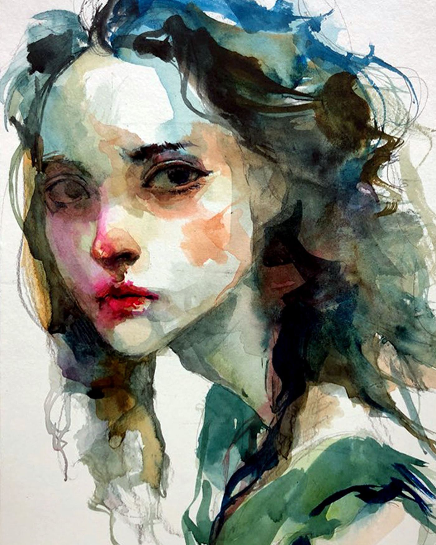 Watercolors Portrait By Ko Byung Jun Watercolor Portrait