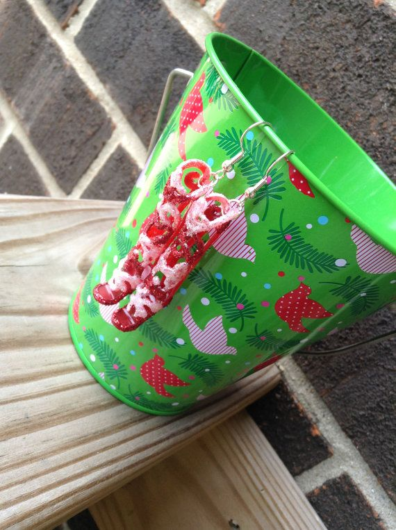 Barbie Shoe Earrings Candy Cane by BeckyABoutique on Etsy, $9.00