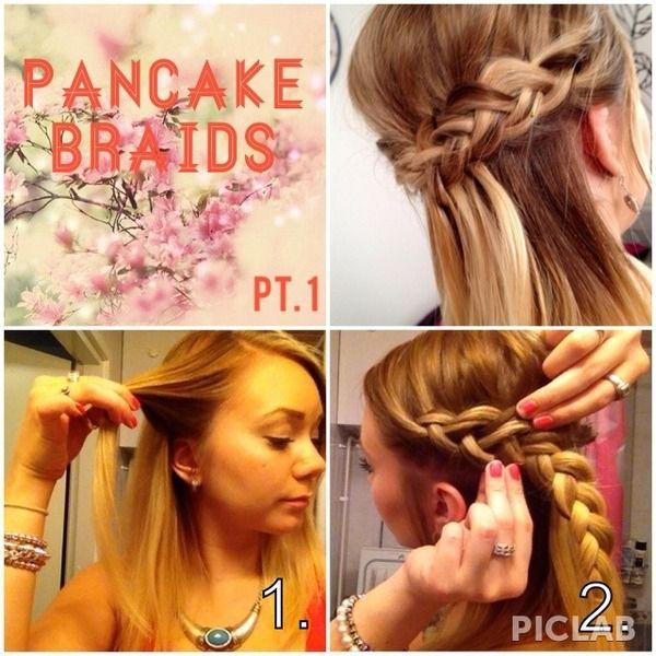 how to make a pancake braid