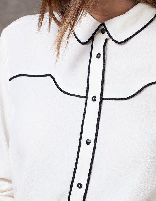 España Contrastes Vivos MujerStradivarius Camisas Camisa rdoeQxBECW