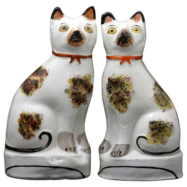 Antique Staffordshire Pottery Pair