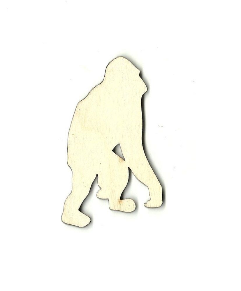 Unfinished wood craft pieces - Monkey Laser Cut Out Unfinished Wood Shape Craft Supply Ape3