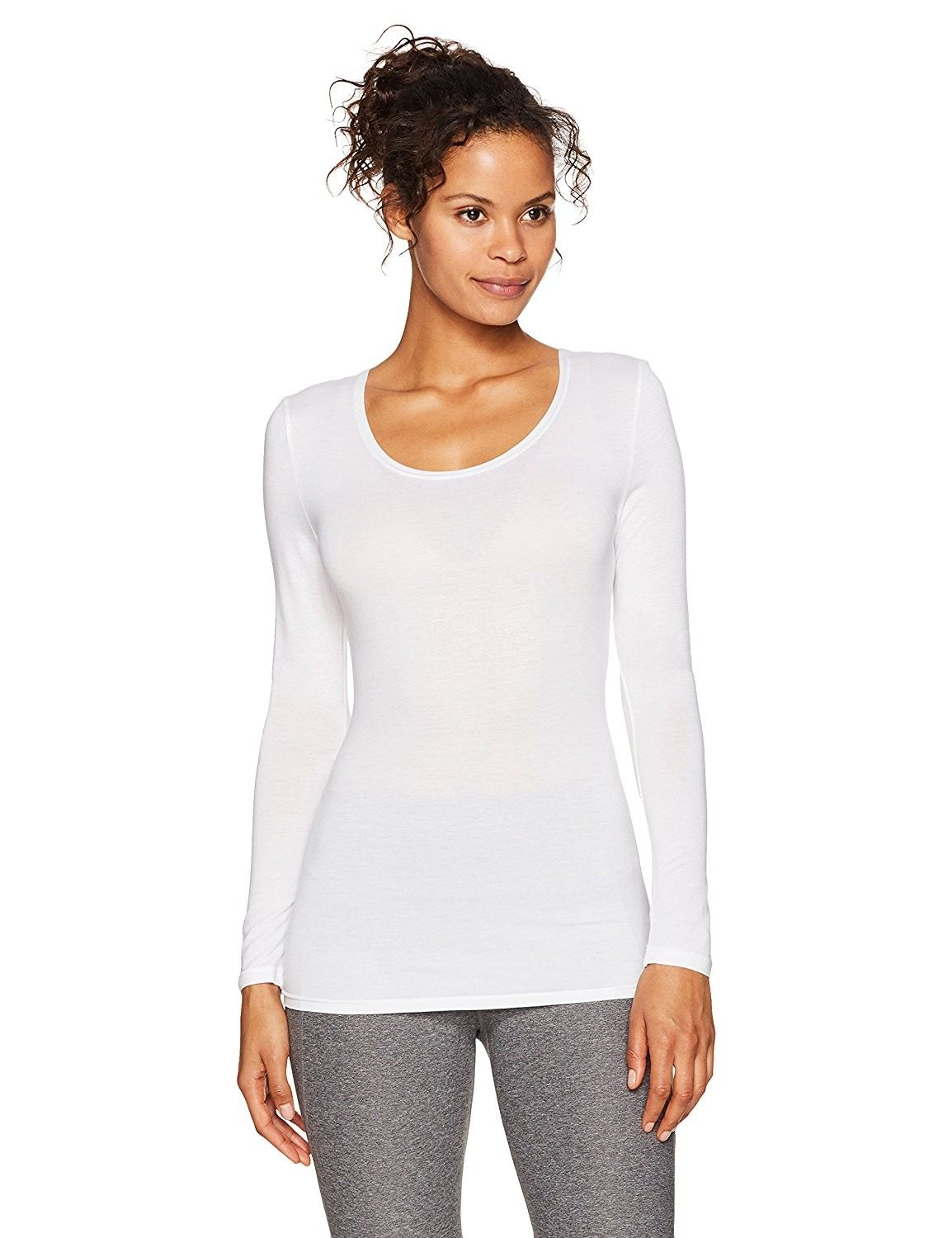 Women's Heat Scoop Neck Thermal Top - White - CF186K6LWNR | Womens scoop  neck, Base layer clothing, Fashion clothes women