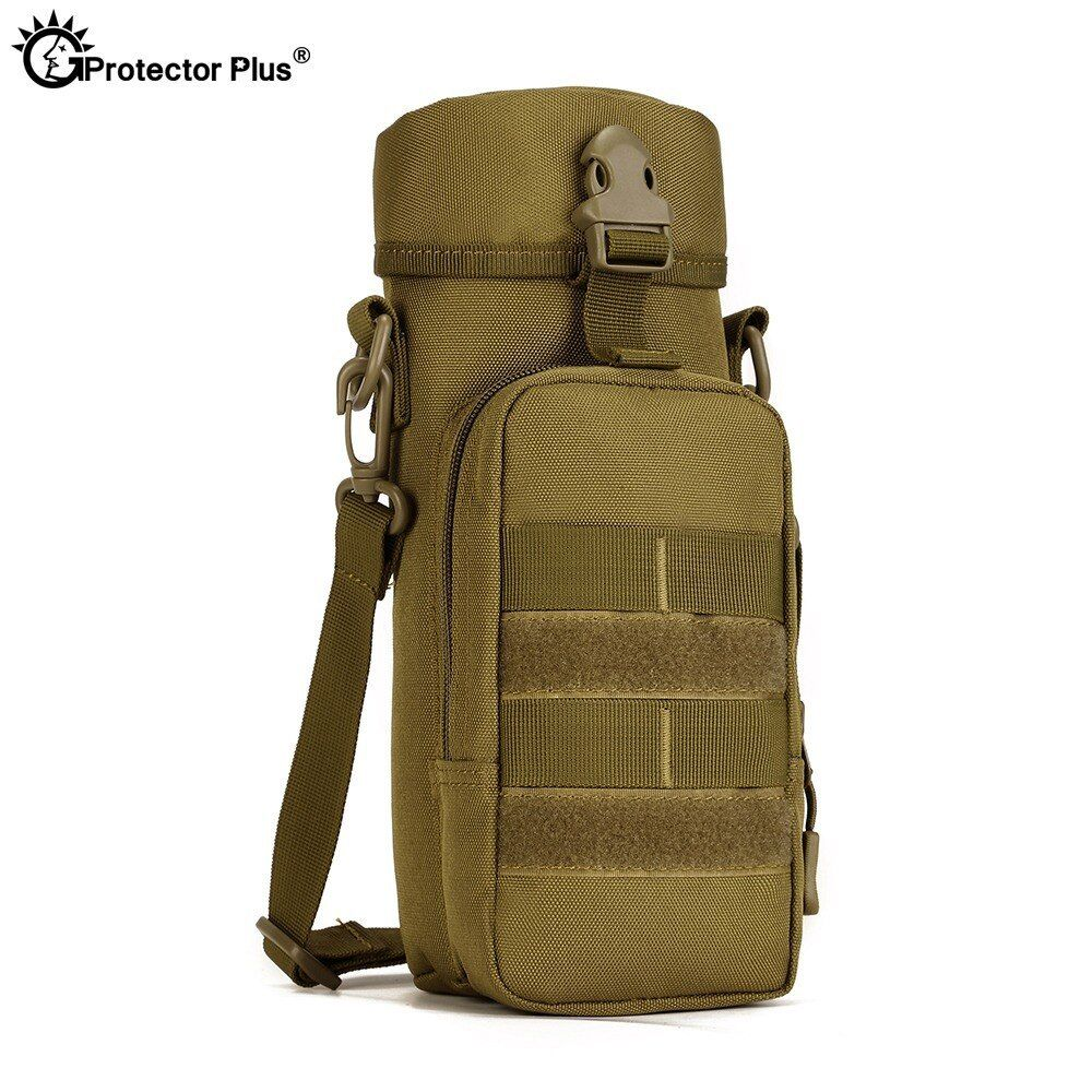 Outdoor Water Bottle Pouch Multifunctional Tactical Shoulder Bag Military Kettle
