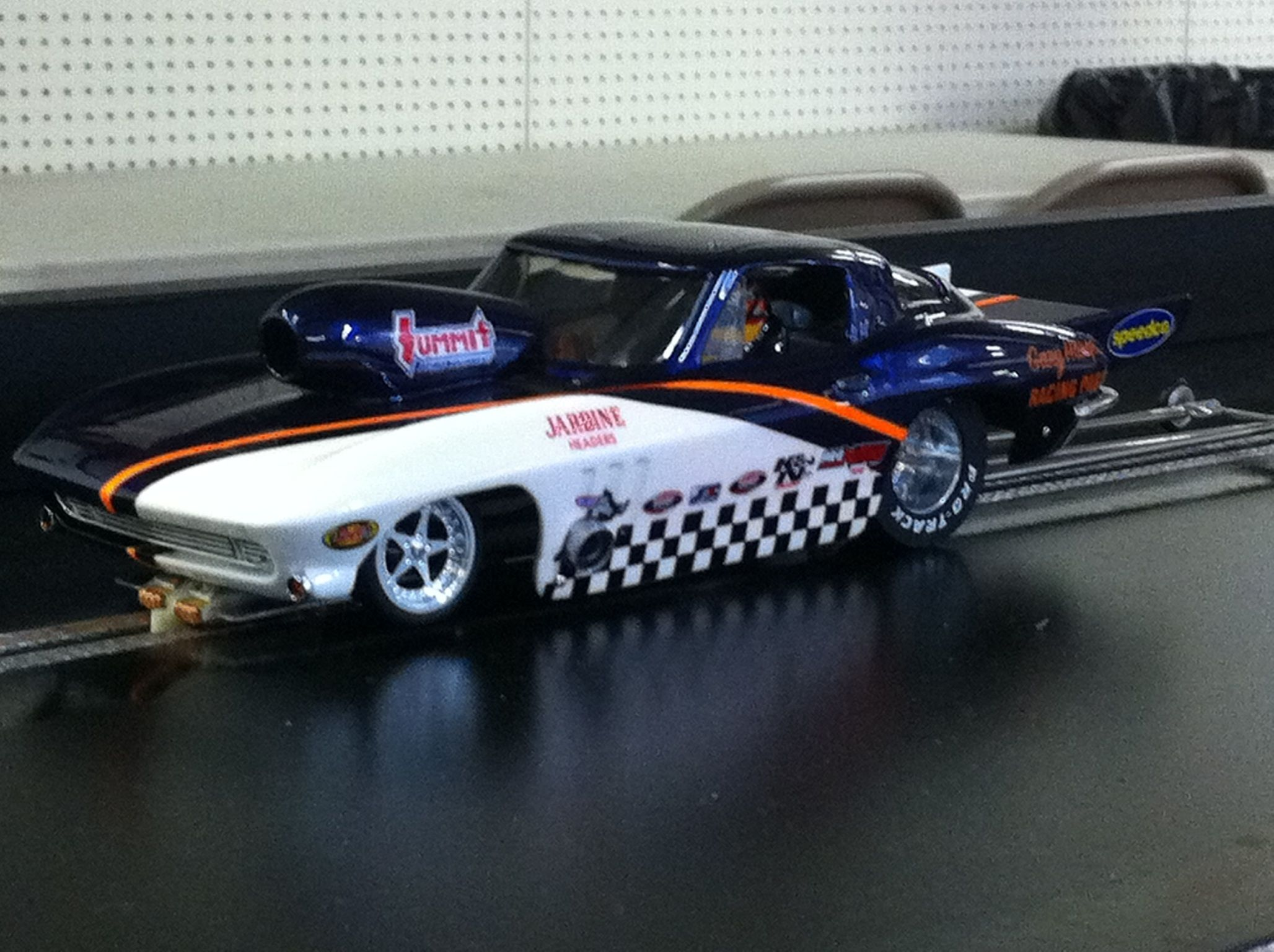 Drag Slot Car built by Sheaves Racing Slots, one of my