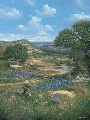 Big Country Crossing An Awesome Texas Hill Country Scene That Shows The Big Texas Countryside Complete Countryside Paintings Southwest Art Country Landscaping