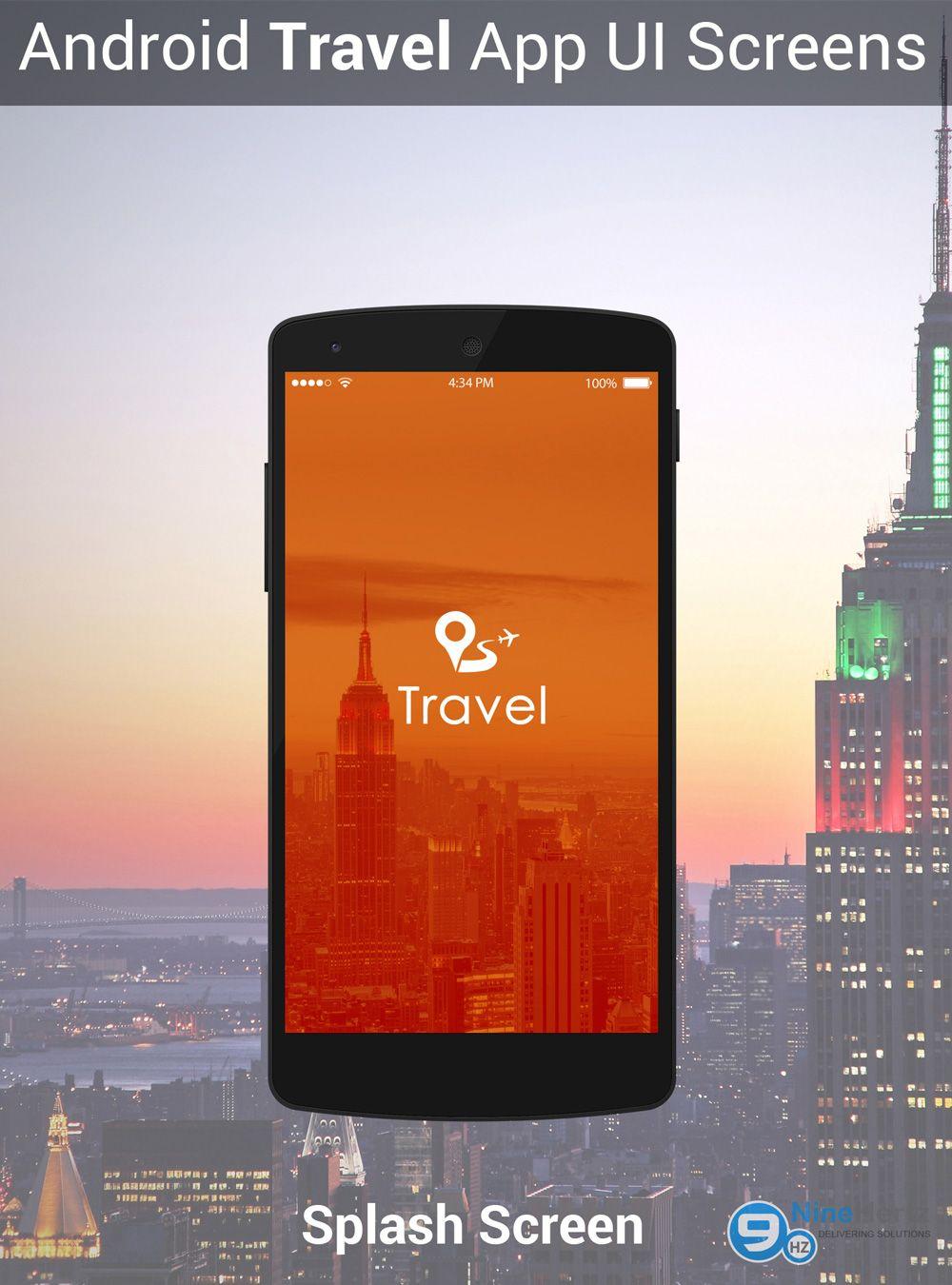 Android Travel App UI Screens PSD | Free Mobile App UI PSD ...