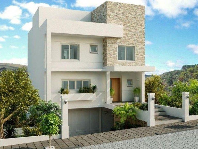 Fachadas De Casas Modernas Con Garage En El Subsuelo Casa