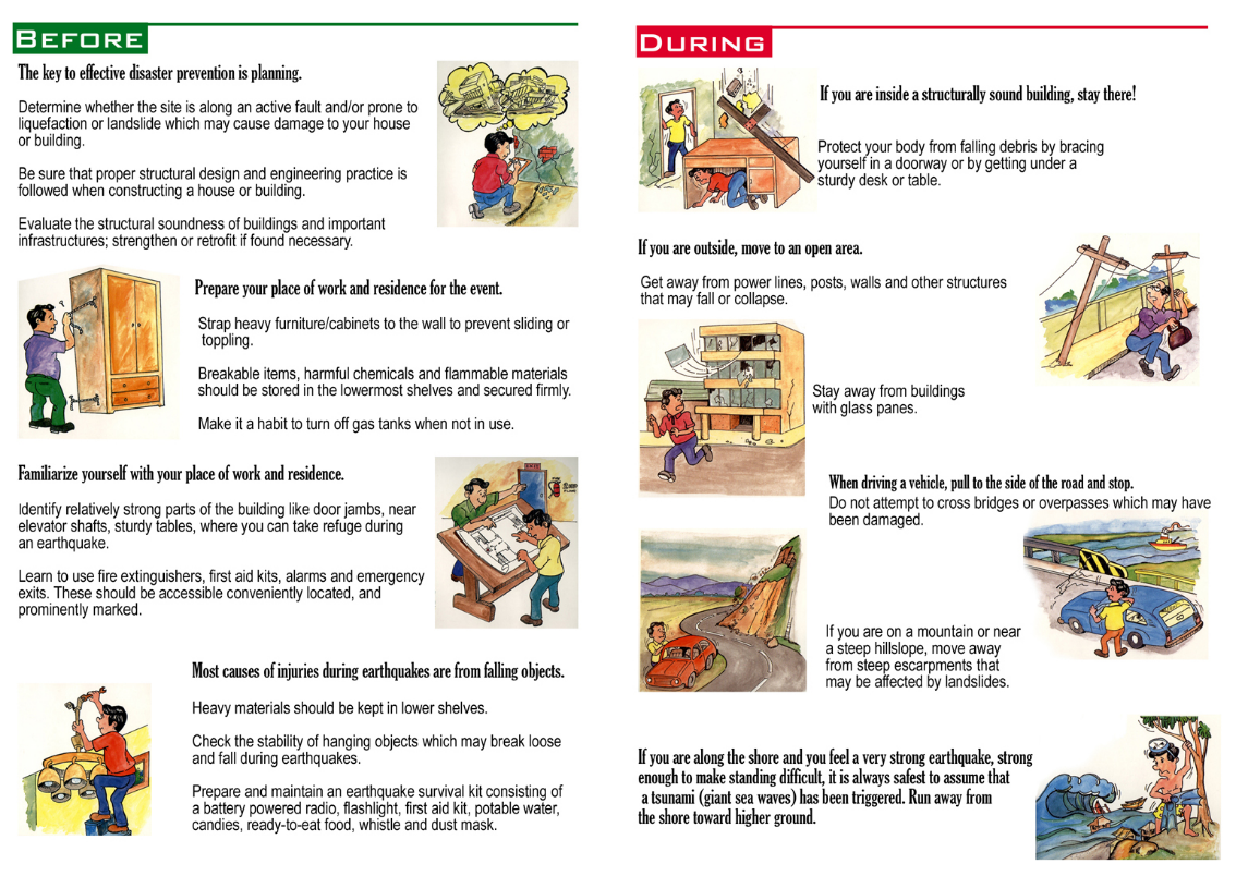 Safety Precaution Before And After Earthquake
