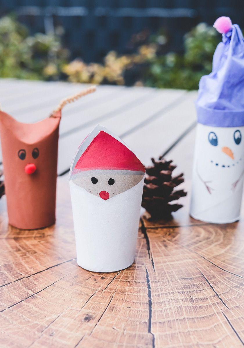 Basteln Mit Klopapierrollen Zu Weihnachten 3 Kinderleichte Ideen