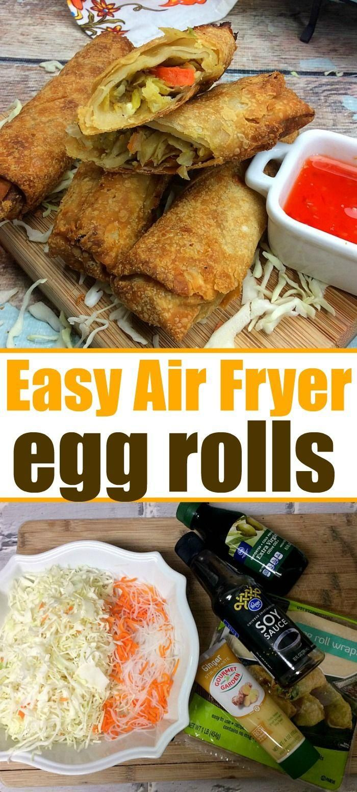 Air fryer egg rolls are a must if you love your new kitchen appliance and want a...  - The Typical Mom -