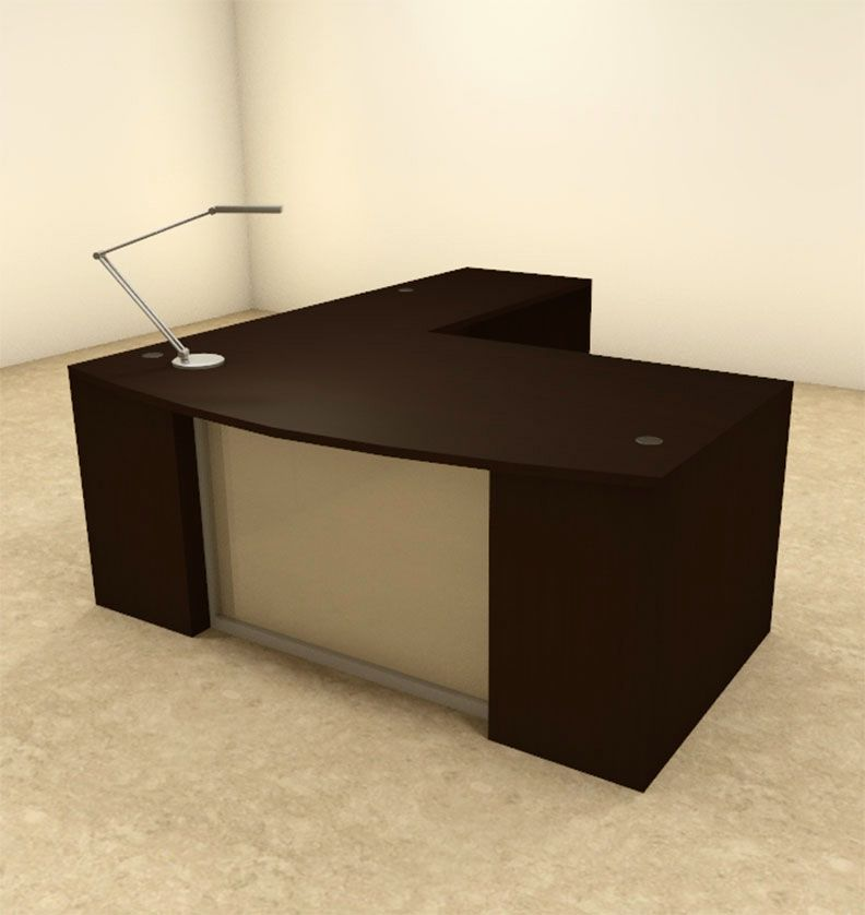 48pc L Shaped Modern Contemporary Executive Office Desk Set OFCON Beauteous Modern Office Furniture Miami Collection