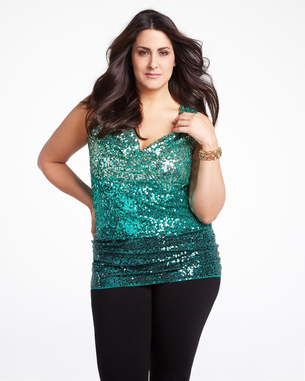 3dfeecb1674cc I may have to try this on in canada! Addition Elle drape neck sequin ...