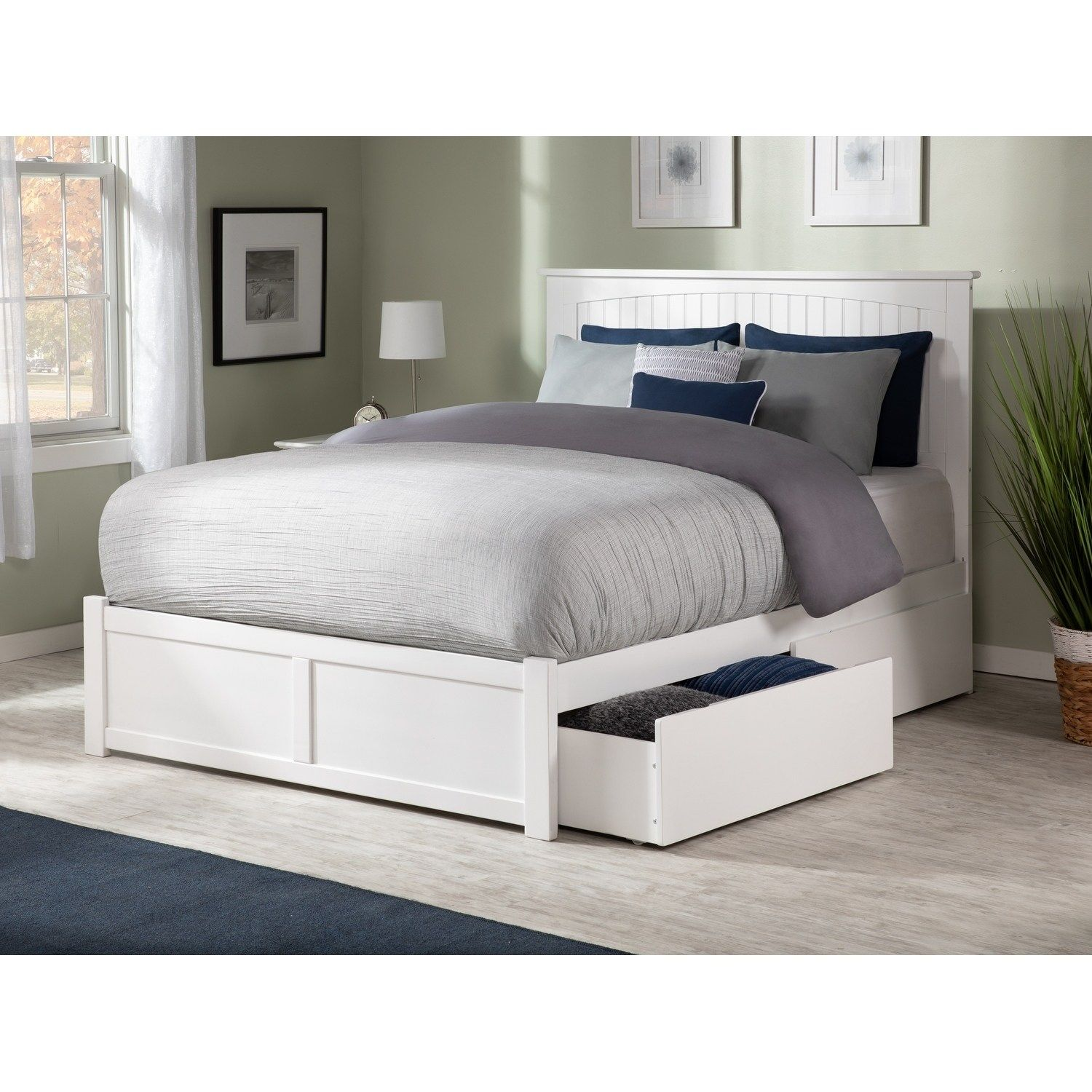 Nantucket King Platform Bed with Flat Panel Foot Board and