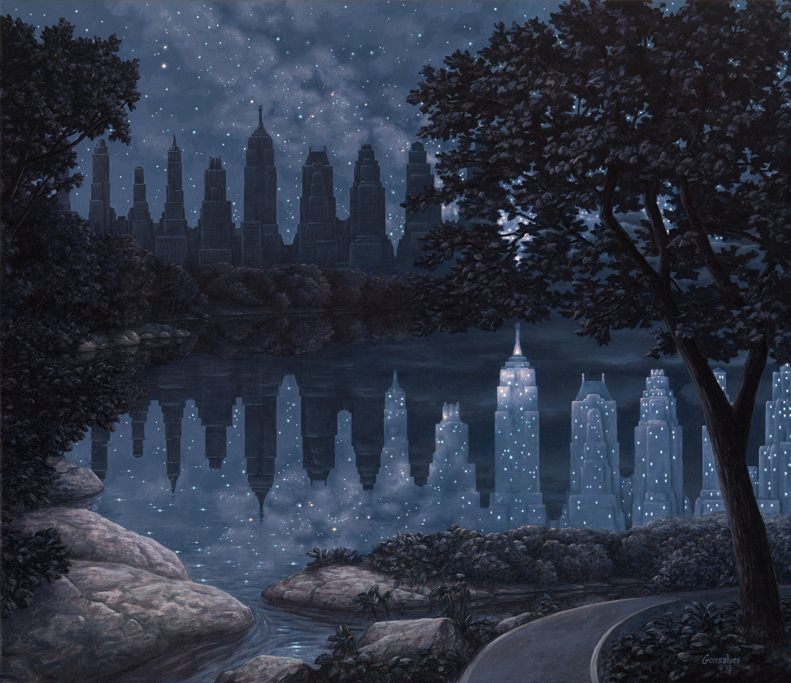 When The Lights Were Out Rob Gonsalves Realisme Magique