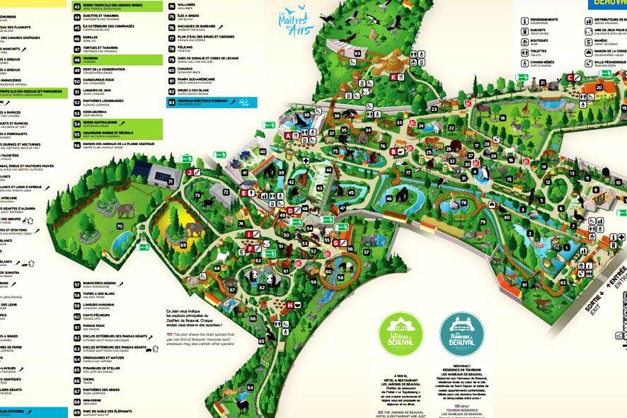 carte zoo de beauval Visite du Zooparc de Beauval (avec images) | Beauval, Zoo de