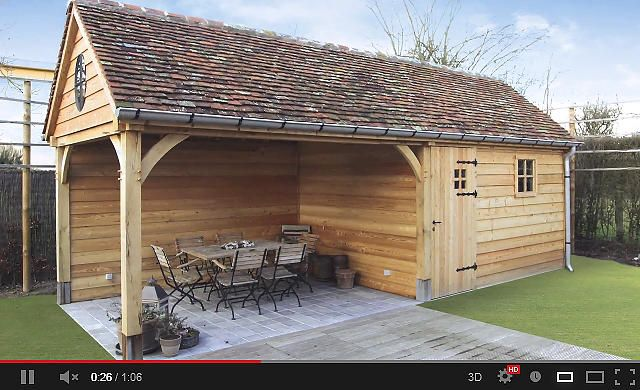 Chalet tuinhuis ttt landelijk wonen in de tuin pinterest gardens carport garage and - Chalet hout ...