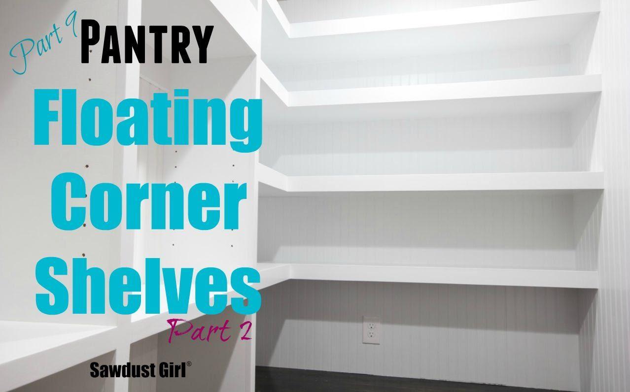How to Build DIY LShaped Floating Shelves (Part 2