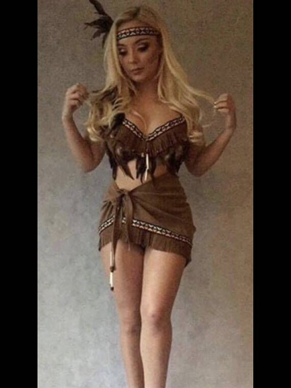 a5952bf1c Red Indian costume Pocahontas Tigerlily adult sexy fancy dress ...