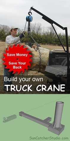 Homemade DIY Truck Crane (Save Money, Save Your Back) #homemadetools