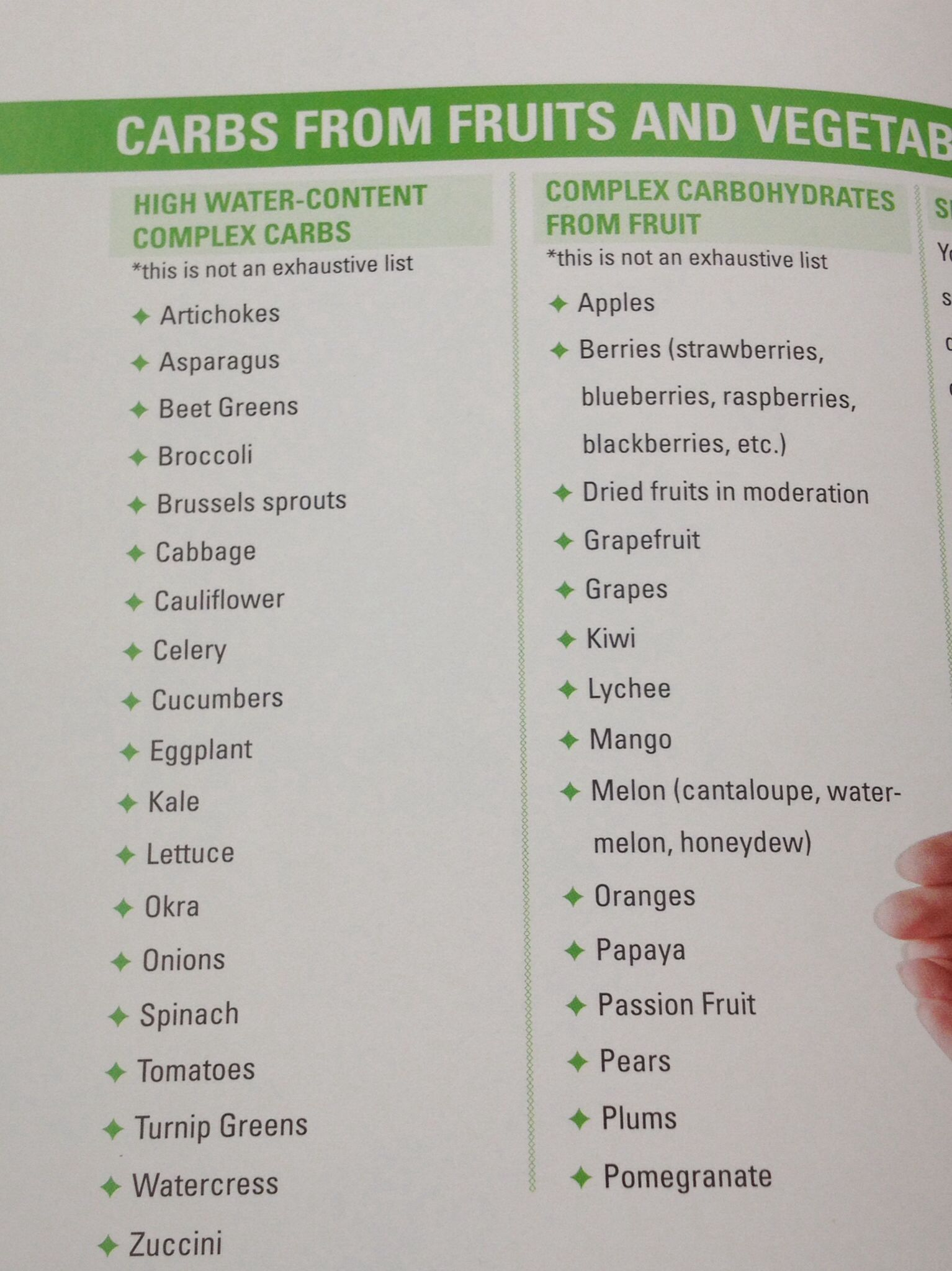 Complex Carbs From Fruits And Vegetables Make Sure To