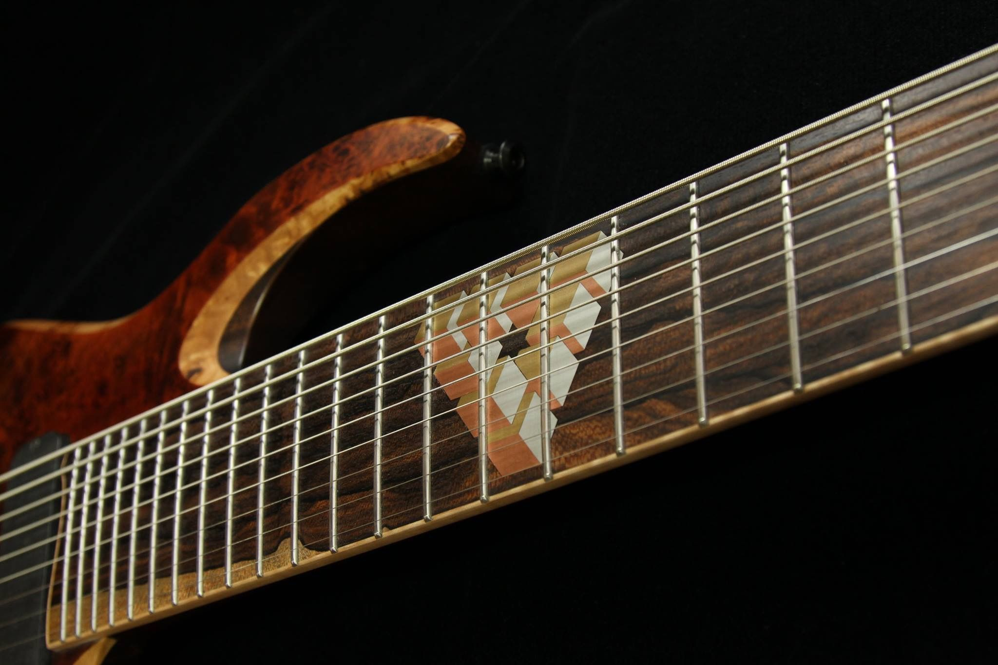 late ngd waghorn corax w9 fanned fret 9 string. Black Bedroom Furniture Sets. Home Design Ideas