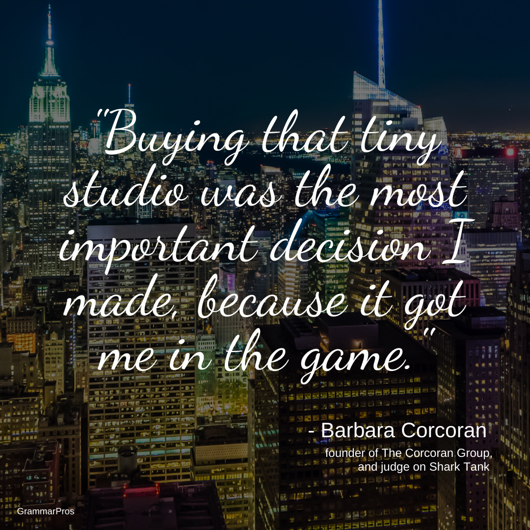 Barbara Corcoran S Real Estate Empire Began After Scraping Together The Money For Her F Barbara Corcoran Real Estate Marketing Plan Real Estate Agent Marketing