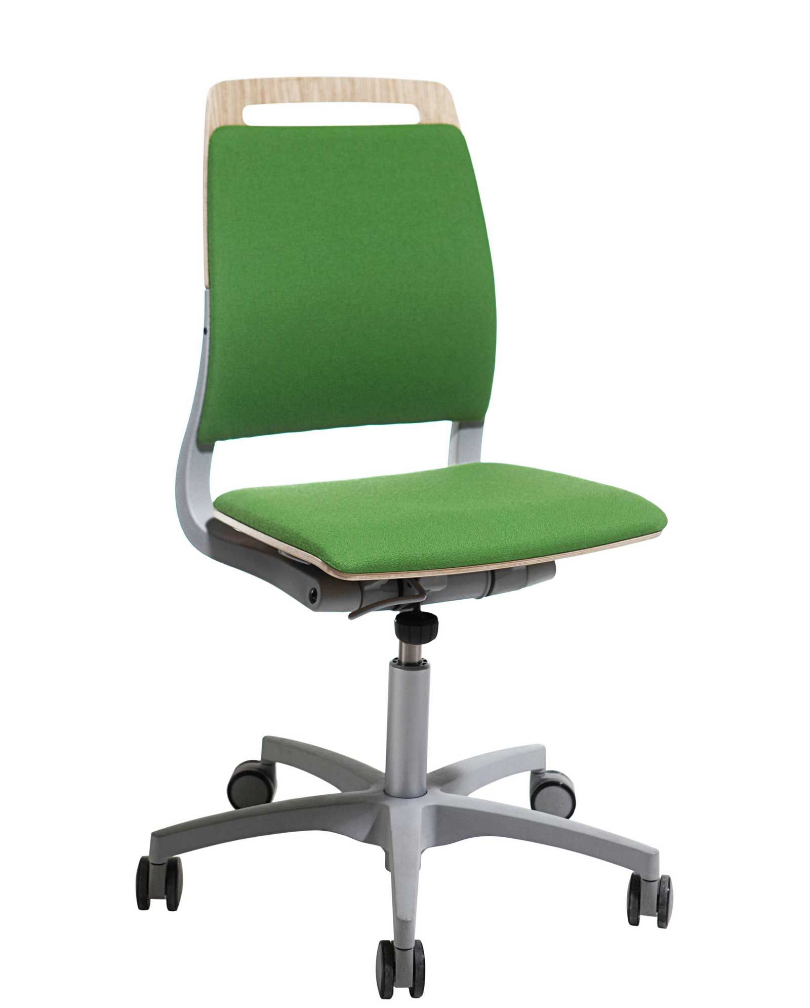 Adjustable Back Green Armless Office Chairs Chair Office Chair Rolling Office Chair