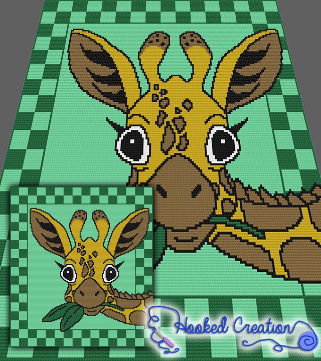 Hello Giraffe Mini C2c Full Blanket Crochet Pattern Pdf Download
