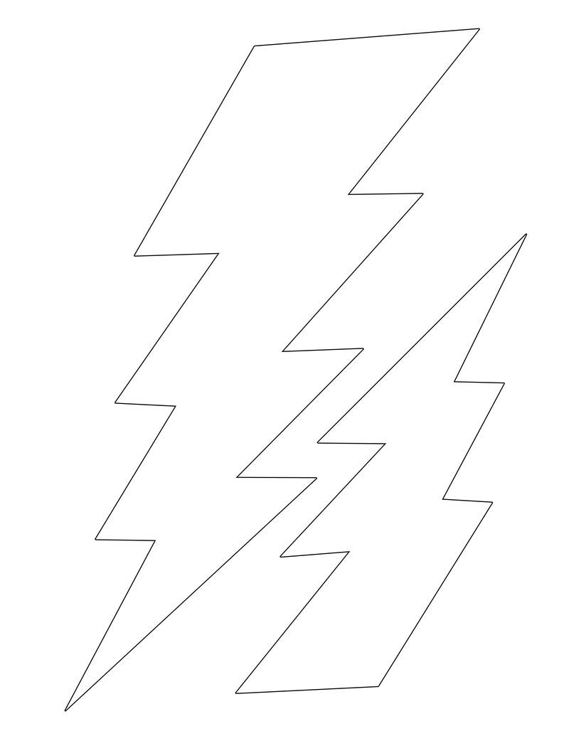 lightning bolt template large ag doll halloween and costumes