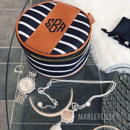 Monogrammed Travel Jewelry Case Marleylilly Wish List