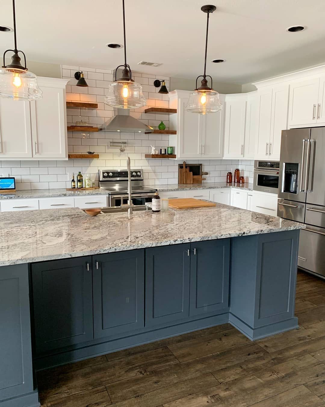 Stunning Kitchen With Open Shelves By Brentwood Cabinets Llc Brentwoodcabinets Instagram Photos And Videos Kitchen Beautiful Kitchens Home Decor