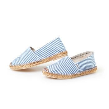 Blue \u0026 White Stripes Espadrilles