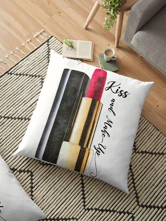 #GlamHomeDecor #ChanelLipstick Chanel Lipstick Pillow Glam Pillow Cover Makeup Quote
