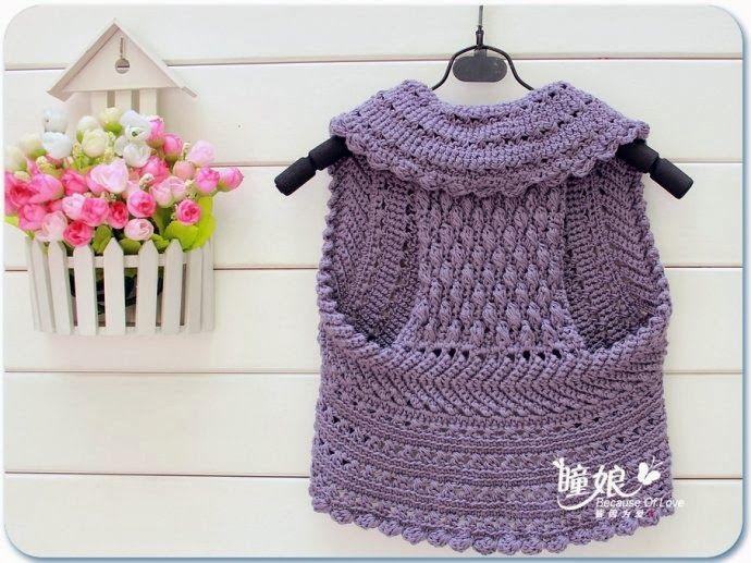 Chaleco de un Circulo de Crochet-Tricot - Patrones Crochet | crochet ...
