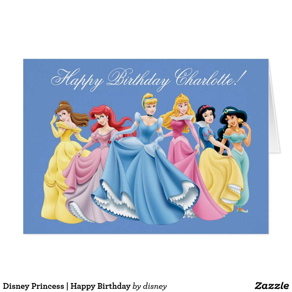 Disney Princess Happy Birthday Card Zazzle Com With Images
