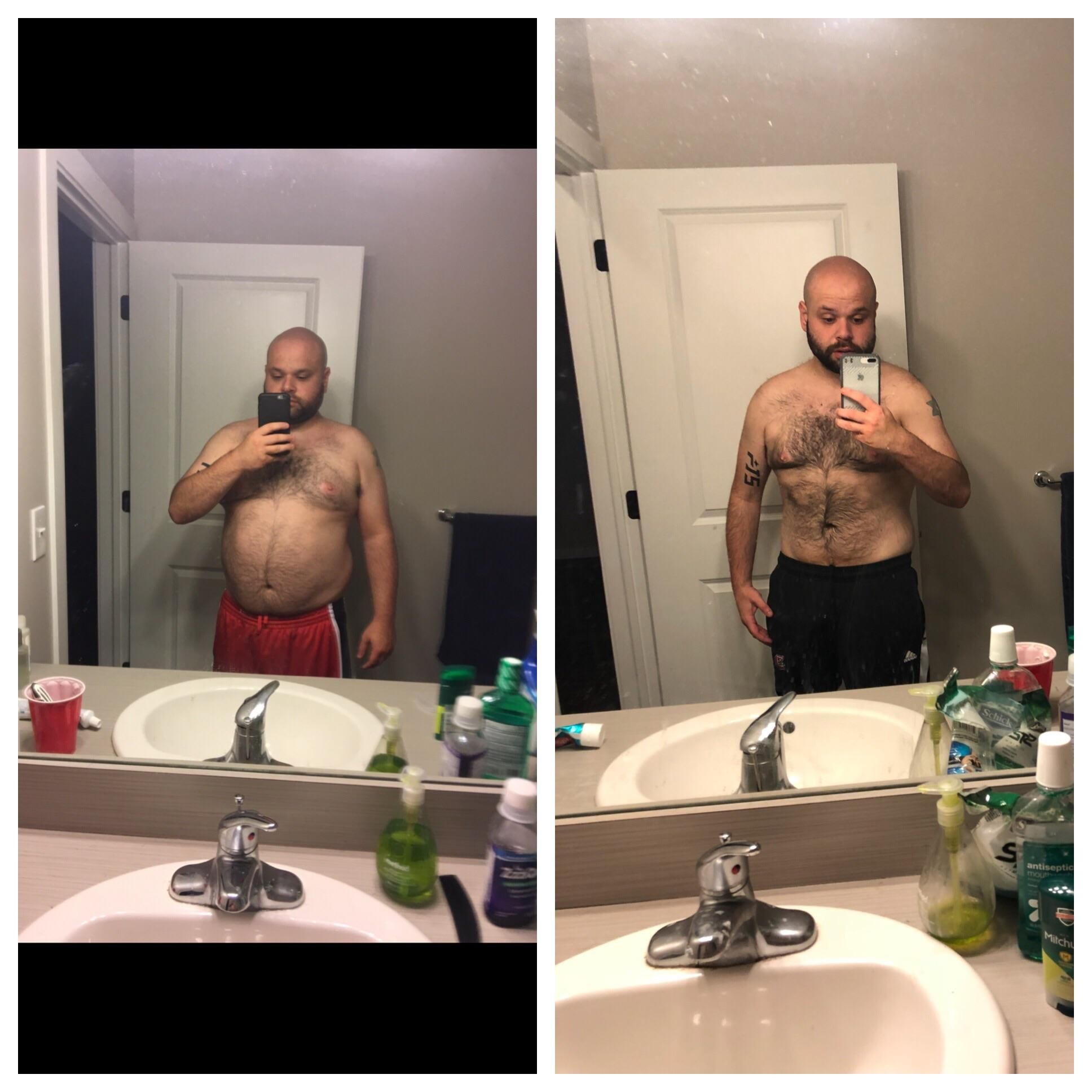 M/29/510 [250>180=70 lbs] (4 1/2 months) Feeling the best