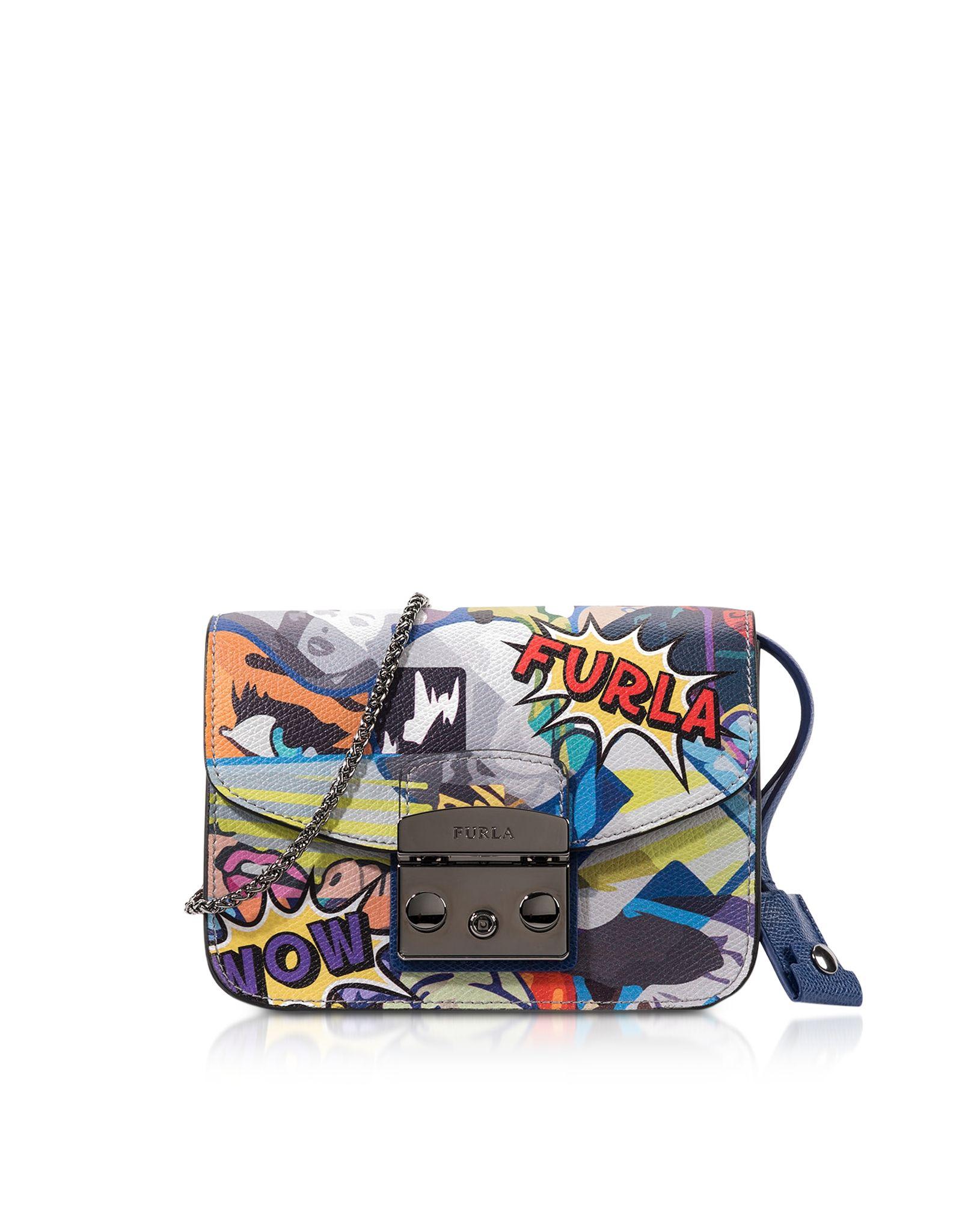 Furla Metropolis Multicolor Graffiti Mini Crossbody Bag at FORZIERI