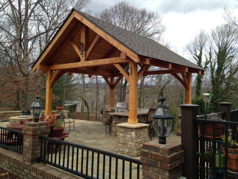 Timber Framed Pavilions Timber Frame Cabin Timber Frame