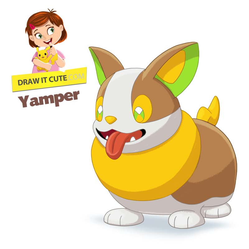 How To Draw Pokemon Yamper Super Easy Witch Colo By Drawitcute On Deviantart Pokemon Drawings Dog Pokemon Pokemon