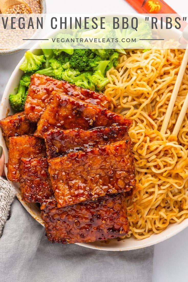 """Photo of Vegan Chinese BBQ """"Ribs"""""""