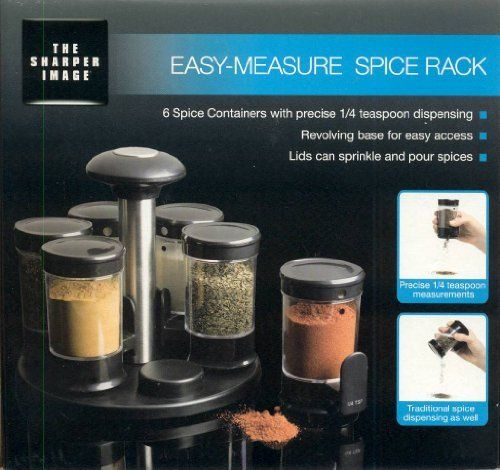 Easy Measure Spice Rack By The Sharper Image By Mystic Apparel Inc