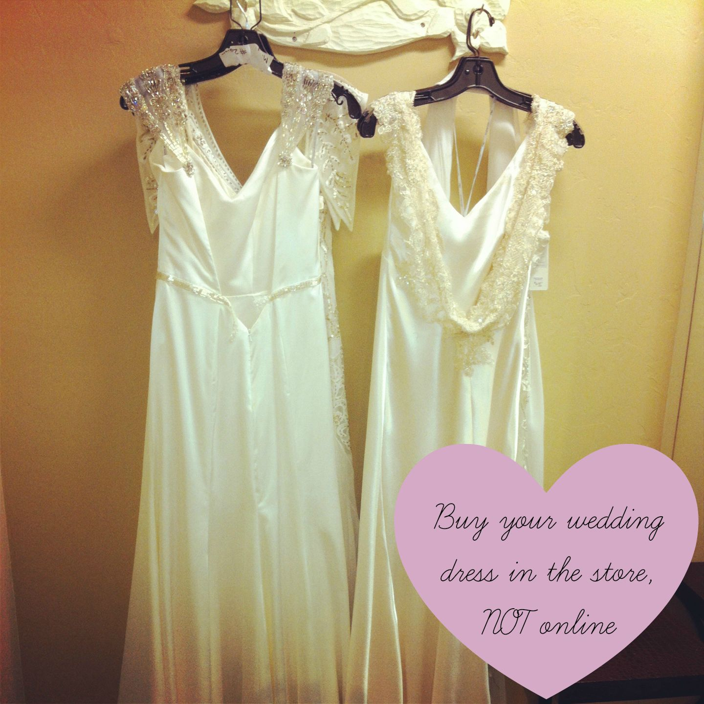 Buy your wedding dress in a store, not online.