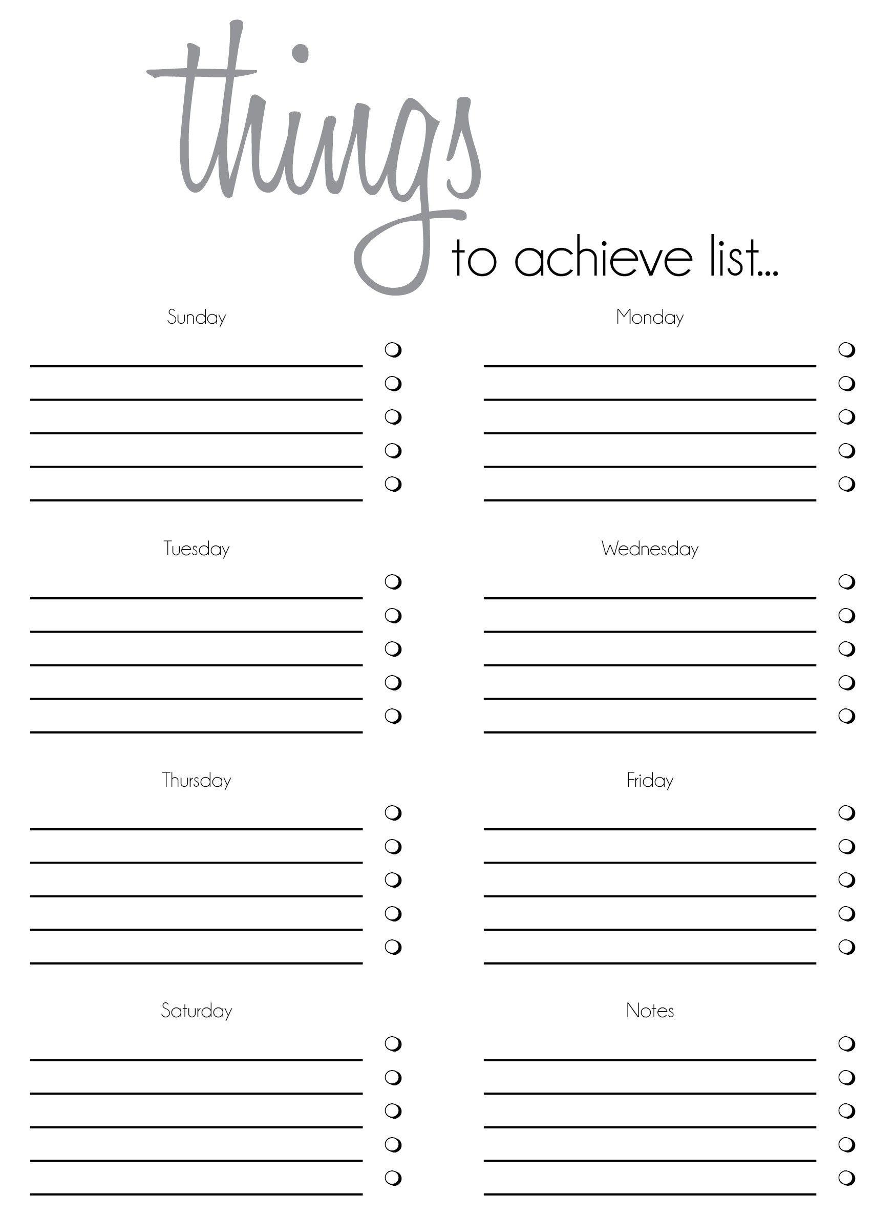 7 To Do List Templates To Do Lists Printable Templates