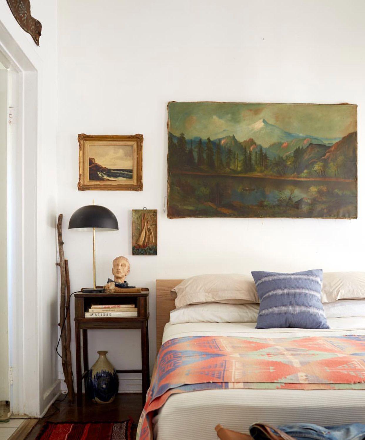 Emily Henderson David T Say photo Bedroom art Gallery Wall