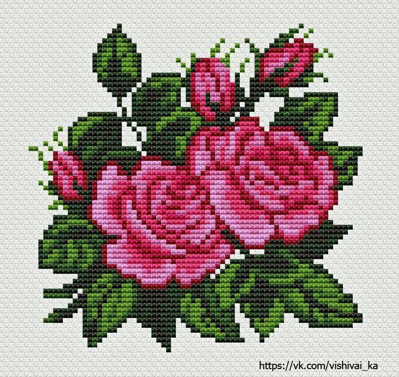картинки цветки крестиком асмус
