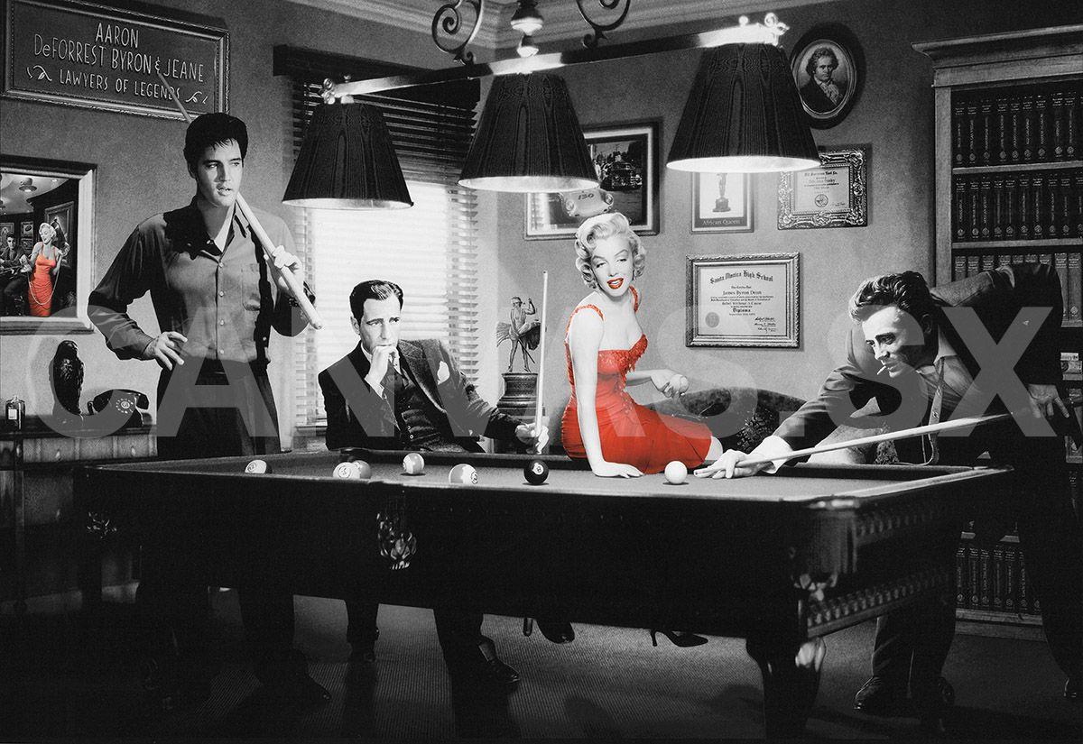 Marilyn Monroe  Elvis Presley James Dean Photo Picture Print On Framed Canvas