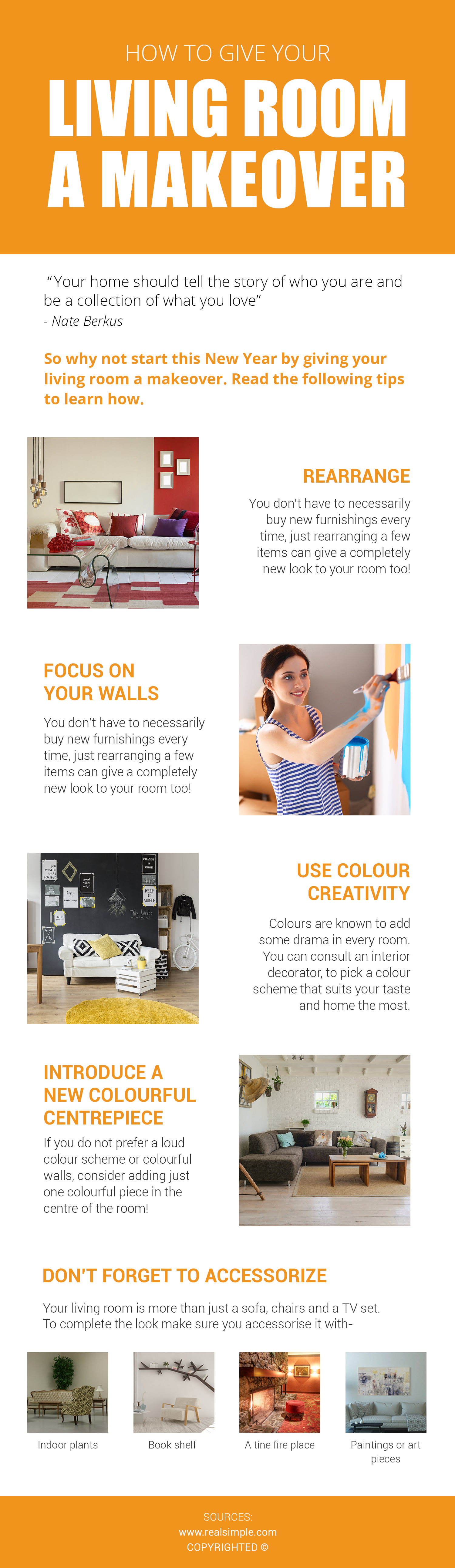 Quick tips to give your living room a makeover: If you are planning ...